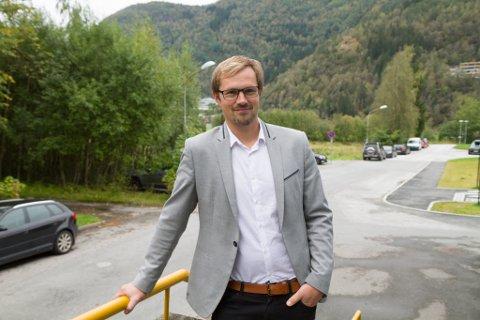 DAGLEG LEIAR: Stian Madsen, ny dagleg leiar i Maritime Montering i Bygstad.