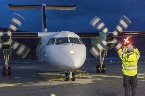NO KAN DU FLY FRÅ FØRDE: Frå og med 1. juni kan du fly frå Førde og Sandane igjen. (Bilde frå Bringeland).