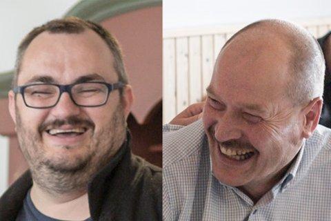 VAL: – Atløybrua og rassikring ved Hundsåna. Det er det første alle listetoppane i Askvoll kjem på når ein spør dei kva som er dei viktigaste sakene i Askvoll dei komande åra. T.h.: Ole Andre Klausen og Gunnar Osland.