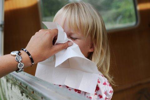 TOPPEN NÅDD: Årets influensautbrot nådde toppen i veke 1, ifølgje Folkehelseinstituttet.
