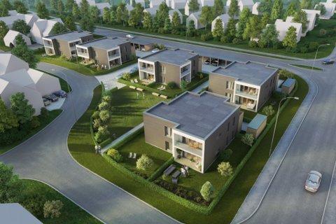 12 LEILEGHEITER: Dette er konseptet Nordbohus ønsker å bygge ut i Vadheim. Onsdag vart prosjektet presentert i eit møte med Høyangar kommune. Illustrasjonen er frå eit tilsvarande utbyggingsprosjekt.