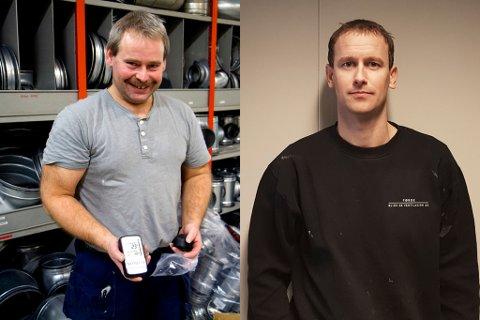 AUKAR PÅ: Trond Ove Kvamsås og Rudi Aalen har drive selskap saman i to år. No sler dei seg saman med konkurrenten for å handtere større jobbar.