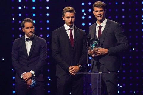 VANN PRIS PÅ IDRETTSGALLA:  Anders Mol og Christian Sørum fekk prisen årets lag under Idrettsgalla 2020.