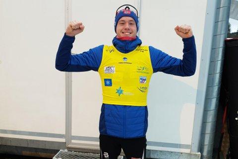 UNIK SJANSE: Gjøran Tefre har god grunn til å juble. Førdianaren leiar no den skandinaviske cupen, og har med det friplass til ein bråte med verdscuprenn fram til mars.