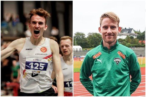FØRSTE- OG TREDJEPLASS: Marius Vedvik frå Førde tok gull under laurdagens NM i halvmaraton. Eivind Øygard frå Jølster tok bronse.