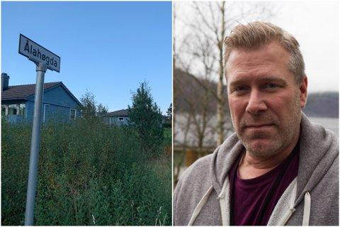 NEKTAR: Andrew Hawkes er leiar i Førdefjorden Vel. Innbyggjarane i byggefeltet Ålahøgda i Kvammen (bildet) vil ikkje betale abonnementsgebyr for kloakken når han renn rett ut i fjorden. Dei meiner eit nytt reinseanlegg må på plass.