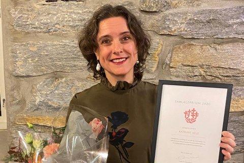 FEK PRIS: Forfattar og kommunikasjonsrådgjevar Katrine Sele.
