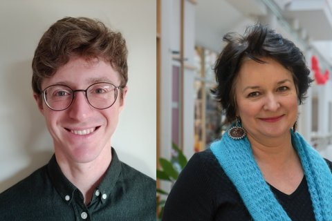 SØKJER: Bernhard Kainz har vore uunnverleg e-pedagog på Mo og Øyrane vidaregåande skule. No skal han flytte, og rektor Liv Horvei er på leit etter ny e-pedagog.