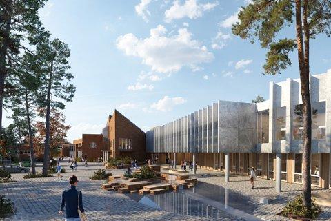 VISJON: Slik ser arkitektane føre seg nye Førde vidaregåande skule.