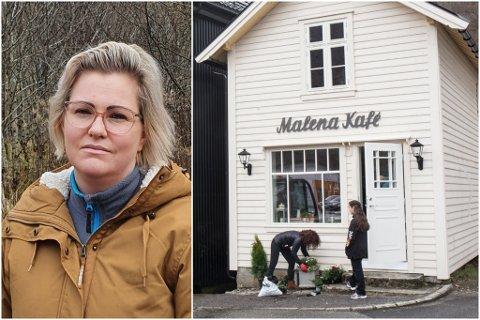 STENGT: Dagleg leiar Marita Mossestrand bestemte seg for å stenge dørene til Malena Kafé på torsdag.