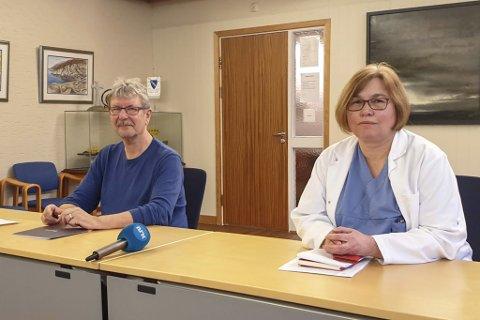 HYLLESTAD: Ordførar Kjell Eide og kommuneoverlege Anette Ester.