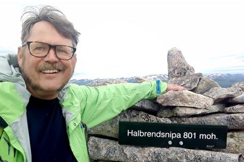 VENN: Frank Even Hagen var den siste som snakka med den den danske kvinna. Dette bildet er frå ein tur i juli.