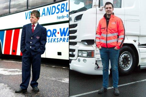 FØR OG ETTER: Jardar Raa Haugland som 9-åring og 28-åring side om side.
