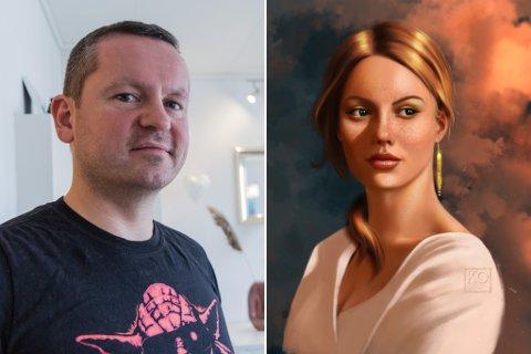 NY HOBBY: Kenneth Osland er radiograf og teiknar på hobbybasis.