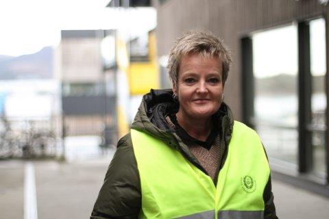 Hilde Thue, regiontillitsvald på Vestlandet for Norsk Arbeidsmandsforbund, kan endeleg ta streikevesten av og snart vende tilbake på jobb.