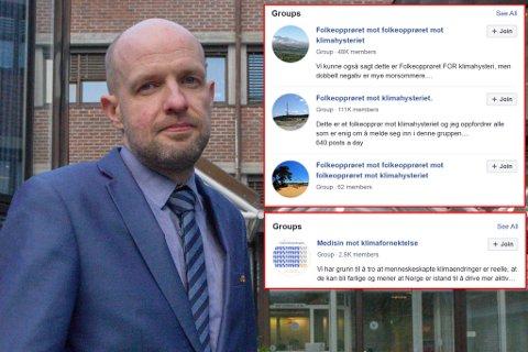 Frank Willy Djuvik (Frp). Om usakleg debatt og svart/kvitt-haldningar i klimagrupper på Facebook.