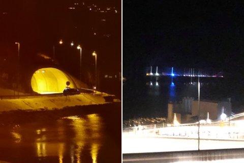 GJENNOMSØK: Politiet stengde tysdag kveld Kvernbergtunnelen utanfor Førde etter at dei gjennomsøkte den for narkotika. Dei mistenkte dumping av bevis etter at ein bil vart stoppa etter rusmistanke tidlegare på kvelden.