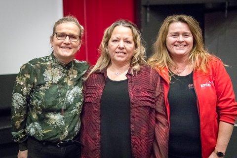 SNAKK OM DET: SLT-koordinator i Sunnfjord kommune, Lillian Vassbotten, Gro Anita Solheim (brukarrepresentant i Smiso) og Chatrine Elhom (dagleg leiar Smiso) vil at dei som jobbar med barn og ungdom skal ha augene opne og snakke saman om seksuelle overgrep.