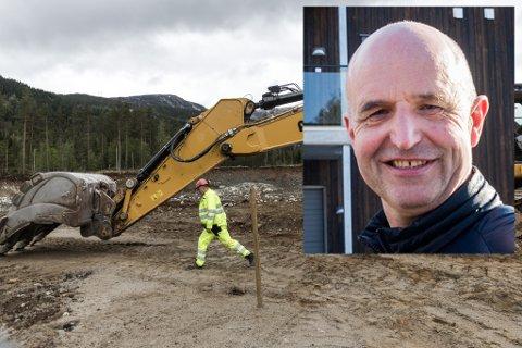 BYGGE-BOOM: Bygg- og anleggsbransjen bidrog til at stillingsmarknaden i Sogn og Fjordane auka mest i heile landet i fjor. Framgangen vil halde fram i år, spår Leif Arne Åsen.