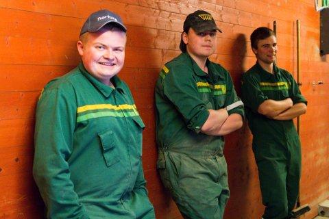 I FJØSET: Frå venstre: Ruben Flatjord Kjøsnes, Steffen Laukeland og Sigbjørn Norddal. Foto: Andrea Sørøy