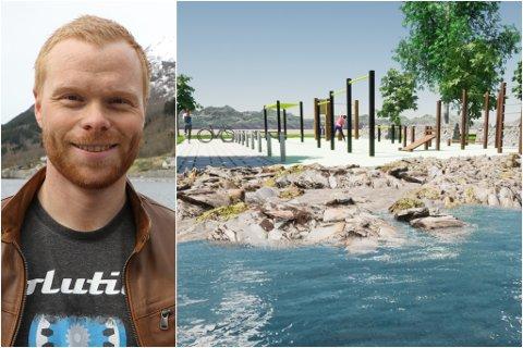 TRENING FOR ALLE: Kjetil Sunde ønskjer å lage utandørs treningsanlegg i Jølster.