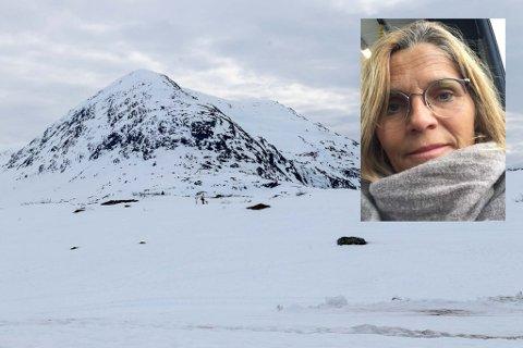 INGEN PÅSKETUR: Berit Hatlebrekke synest det er dumt at det ikkje vert nokon påsketur til Gaular i år. På bildet ser ein Gaularfjellet på påskeaftan i fjor.