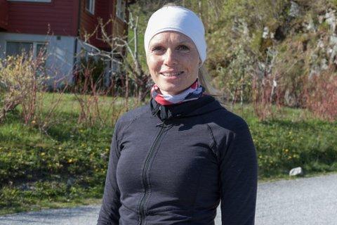 IVRIG: Anne Hestenes Mork er ein ivrig joggar og har lagt merke til at langt fleire enn før  er ute og mosjonerer for tida.
