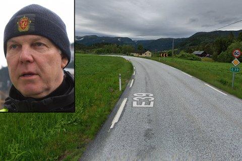 TOK MANGE: Einar Vereide, gruppeleiar i UP Sogn og Fjordane, seier det var påfallande mange fartssyndarar i 60-sona ved Lunde i Gaular denne onsdagen. Bildet er frå ein vilkårleg plass i same 60-sone frå Google Maps.