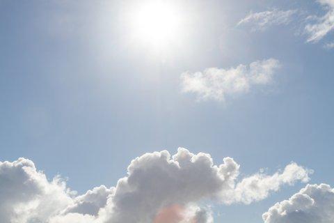 FINT: Måndag morgon er det ikkje det verste synet som møter ein om ein ser opp.