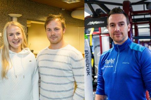 KLARE: Marita Aasen, Adrian Breidvik og Kent Roger Engdal driv høvesvis Høyanger Treningsenter og Spenst Førde. Dei gler seg til å opne treningssentera sine att, og jobbar no med å få på plass koronatiltak.
