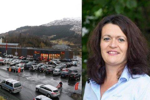 BLIR BUTIKKSJEF: Tidlegare senterleiar på Elvetorget i Førde, Gro Eikebø Stang, har fått jobb som butikksjef på Extra-butikken i Dale.