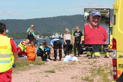 REDNING: Seks gutar måtte bergast opp av sjøen då ein båt kantra i Drammensfjorden torsdag ettermiddag.