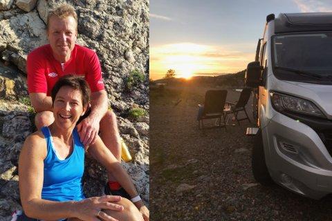 nYTT FIRMA: Helge Anders Nedberge (55) og Ingrid Woff (52) har starta firmaet Sogn Bubilutleige. Ideen fekk dei etter at dei var på ein ferietur med bubil i Lofoten.