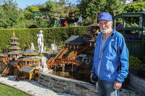 HOBBY: – Gleda over å bygge noko og sjå korleis det ser ut i landskapet er det som driv meg, seier Arne Ove Bareksten i Havreneset.