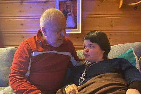FORTVILA: Oddleif Yndestad, far og verje til Ann Jeanette Yndestad, er fortvila over at kommunen ikkje ryddar opp og gir dottera forsvarleg helsehjelp. – Noko må skje slik at Ann Jeanette har det bra, seier han.