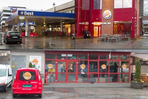 SERVERER NATTMAT: I helga var bedrifta Trygg 24 på tilsyn ved desse serveringsstadene i Førde sentrum, i regi av Sunnfjord kommune.