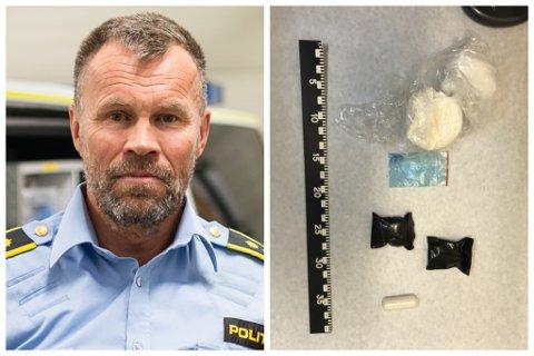 ARRESTASJONAR: Lensmann Dag Fiske seier dei truleg kjem til å arrestere endå fleire personar i narkotikasaka dei jobbar med. Narkotiske tablettar, hasj og amfetamin er så langt blitt beslaglagt i saka.