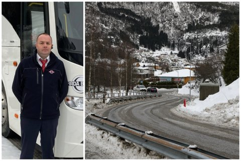 IKKJE NØGDE TILSETTE: Jan Atle Hatlelid er hovudverneombod i Firda Billag Buss.