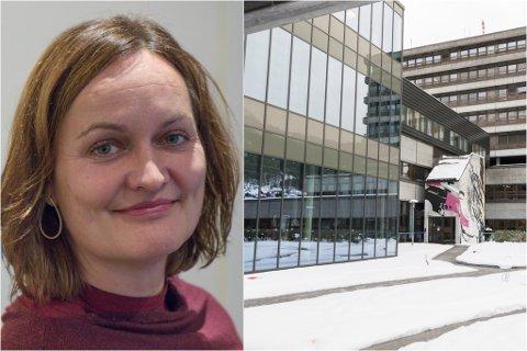 KORONASMITTE: Dei tre smitta praksisstudentane og den smitta tilsette jobba på fire forskjellige avdelingar ved Førde sentralsjukehus. – I løpet av veka er vi tilbake til normalen att, seier fagdirektør Evy-Helen Helleseth.