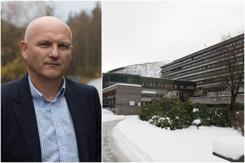 TILSETT VED SJUKEHUSET: Bjørg Batalden var tilsett som anestestisjukepleiar ved Førde sentralsjukehus. Administrerande direktør Arve Varden mottok den tragiske bodskapen laurdag.