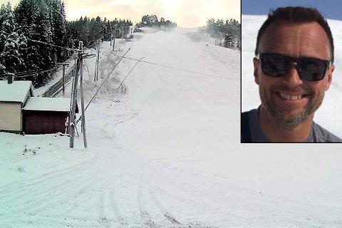 SLIK SER DET UT: Bilde frå webcameraet til Jølster skisenter ser slik ut denne tysdagsmorgonen. Dagleg leiar Jarle Mundal innlemma.