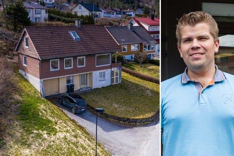 STÅR ENNO: Huset i Liavegen i Førde står enno. – Ingen har teke kontakt for å hente heile huset, dessverre, seier huseigar Bjarte Bruland.