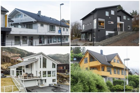 DYRASTE: Desse husa var dei blant dei dyraste som skifta eigar i 2020. Sjå dei 25 dyraste i lista nedst i saka.