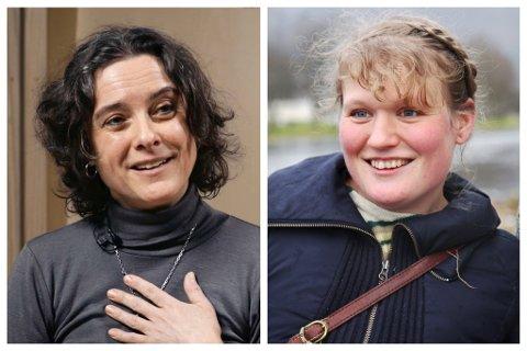 NOMINERTE: Katrine Sele (til ventre) og Siri Helle er nominerte til språkrådets språkpris.