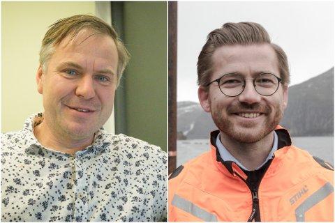 TOPPKANDIDATAR: Vestland Venstre har valt Alfred Bjørlo og Sveinung Rotevatn som sine toppkandidatar til årets stortingsval.