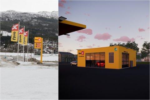 BILVASK: Uno- X er godt nøgde med stasjonen i Førde. No utvider dei tilbodet og planlegger bygging av ubetent vaskehall tilknytt drivstoffstasjonen påHafstadreina.