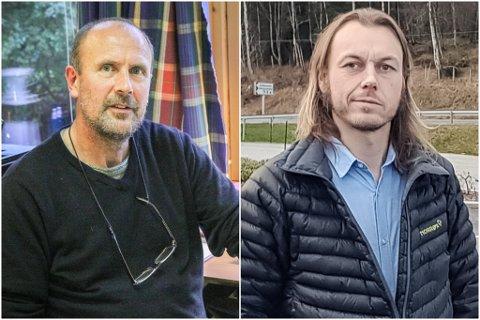 FOR SEINE: Jens Christian Lundeland (t.v.) meiner at Sunnfjord Miljøverk var for seint ute med å varsle abonnentane om dei auka renovasjonsgebyra. Dagleg leiar Henning Tjørhom seier dei har følgt reglane.