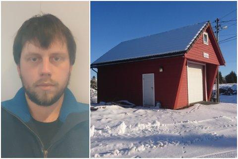 UTVIDE: Dette er brannstasjonen Andreas Landøy vil byggje ut.