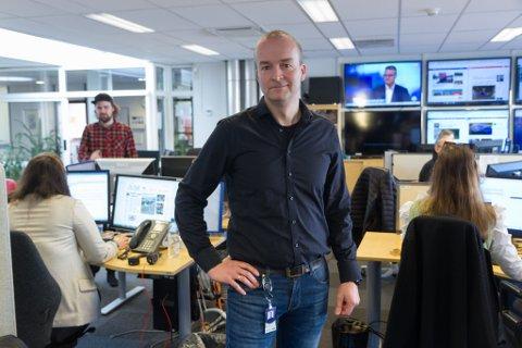 TAR OVER: Rune Fossum Lillesvangstu blir dagleg leiar for Nynorsk Mediesenter på NRK sitt distriktskontor i Førde.