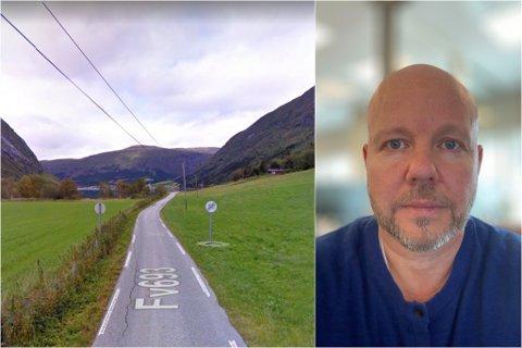 FARLEG: Olaf Barmen meiner soneplasseringa inst i Myklebustdalen er trafikkfarleg, særleg for dei mjuke trafikantane.